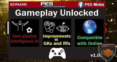 PES 2016 Gameplay Patch Unlocked v1.03