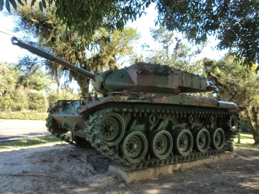 Tanque, no Parque Marechal Osório, em Tramandaí