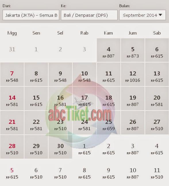 Harga Tiket Pesawat Jakarta Bali September Promo Tiket