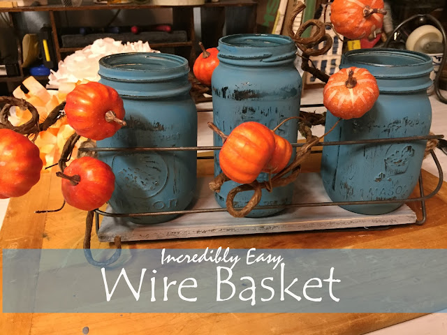 incredibly easy DIY wire basket for about $1