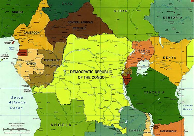 Gambar Peta politik Afrika Tengah