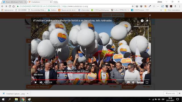 subtitulado de la web de ciudadanos mezclando futbol con futuro