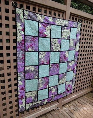 Reversible Embroidered Quilt, side back view