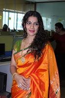 Marath Actrss Urmila Kanitkar Celetes Gudi Padwa in Orange Saree 30.JPG