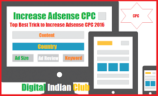 Top Best Trick to Increase Adsense CPC 2016
