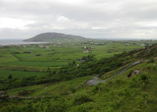View of the North Atlantic and twisty descent from Mamore Gap, Ireland