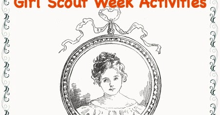 It is a picture of Peaceful Girl Scout Week Activity Sheets