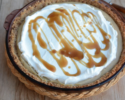 Butterscotch Cream Pie for #PieDayFriday ♥ KitchenParade.com