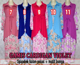 Koleksi model gamis maxi cardigan mewah dan modern untuk muslimah