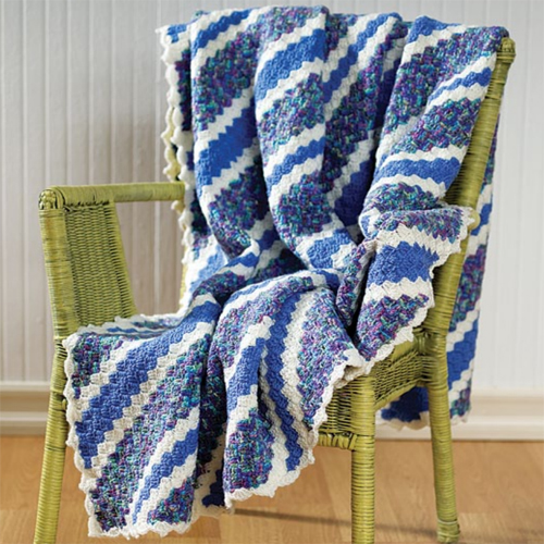 Corner-To-Corner Crochet Throw - Free Pattern