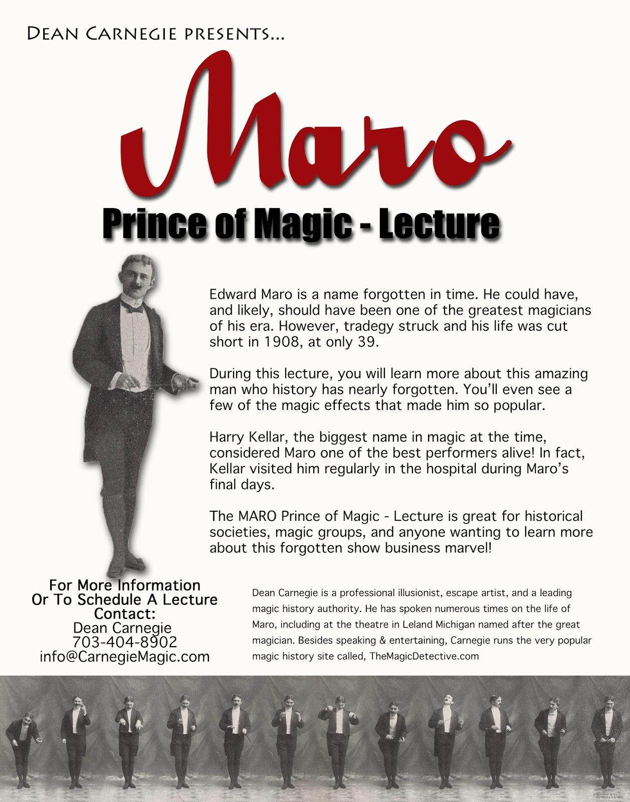 Carnegie: Magic Detective: The Great Maro Prince of Magic