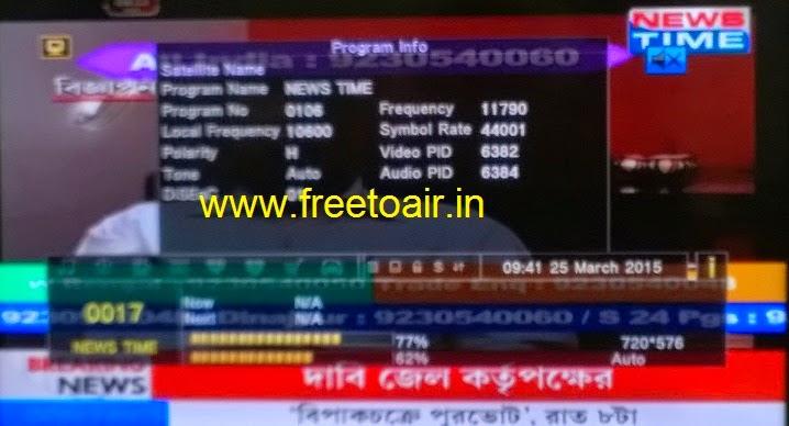 News Time Bangla Channel FTA from ABS-2 Satellite (Ku-Band) - Free