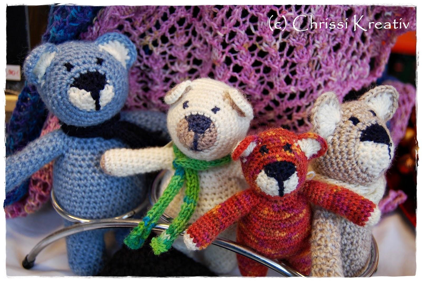 Chrissi Kreativ Gehäkelte Teddybären