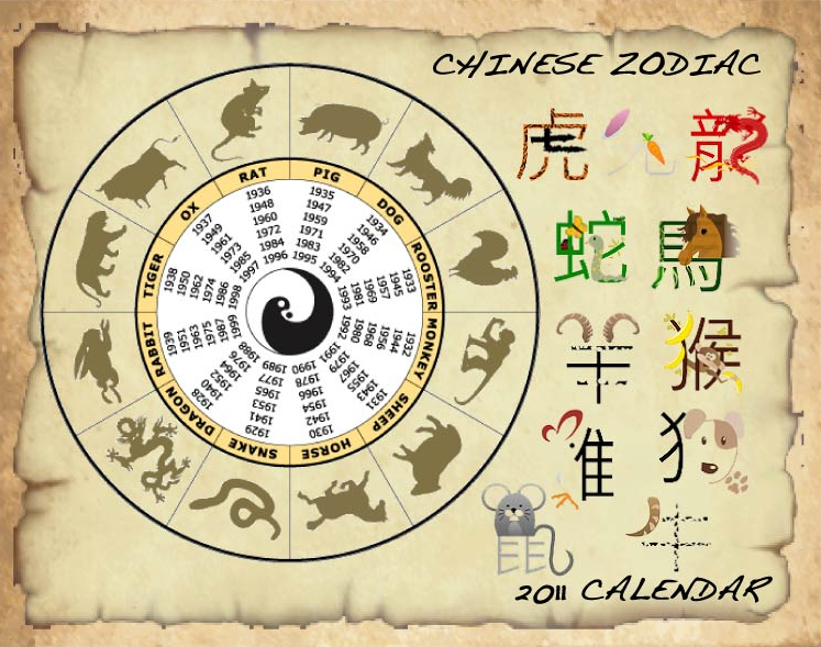 computer graphics  2011 original calendar design  theme  chinese zodiac  1