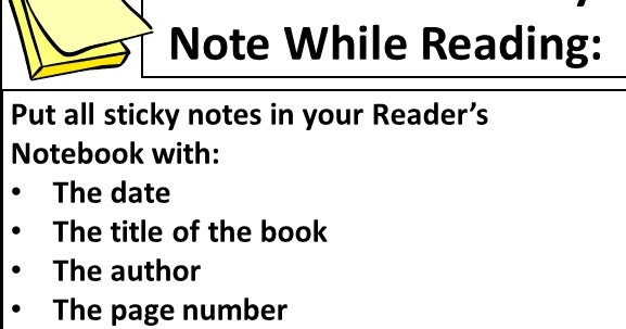 Beg, Borrow, and Teach!: Using Sticky Notes for Reading