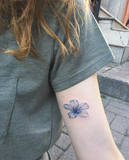 Esse azul da flor