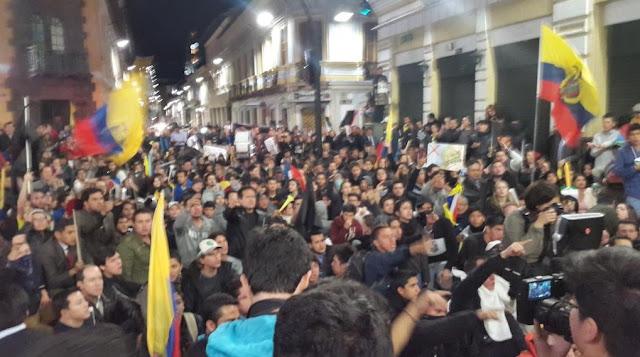 Marchas de Quito en contra de Rafael Correa
