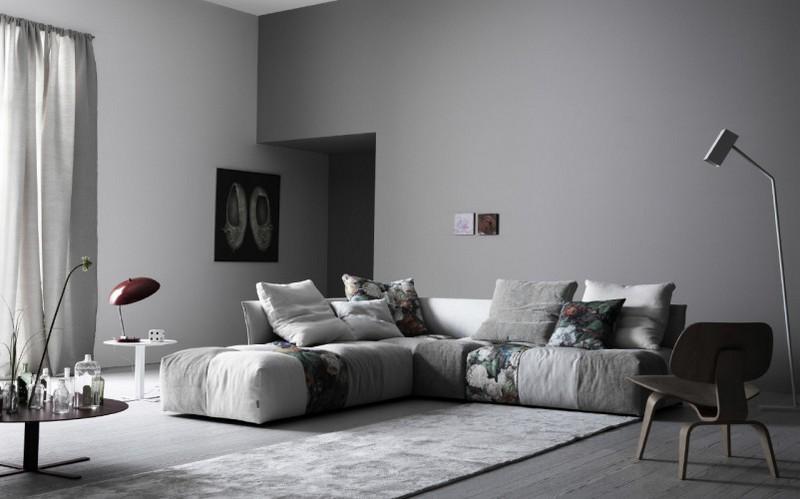 10 salas con sof s color gris salas con estilo for Decoracion de salones en gris
