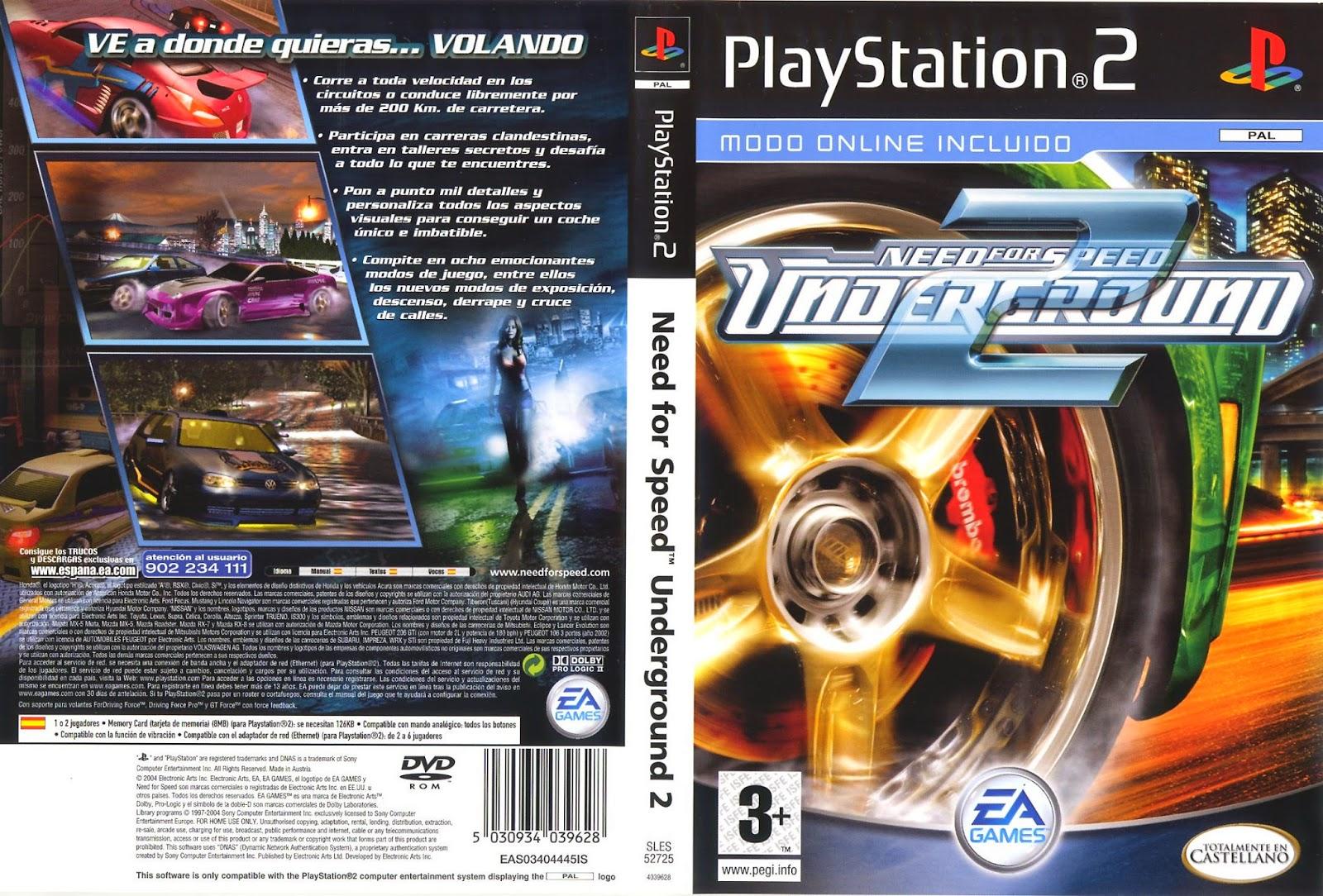 Coleccion Caratulas Ps2 Need For Speed Underground 2