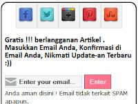Cara Mudah Modifikasi Kotak Berlangganan Email Feedburner + Tombol Sosial Media Menjadi Lebih Keren