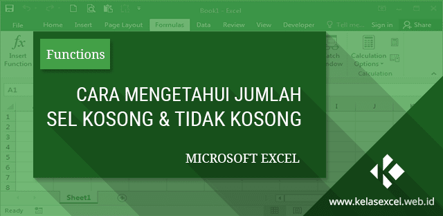 Cara Mengetahui Jumlah Sel Kosong dan Sel yang Berisi Teks pada Microsoft Excel