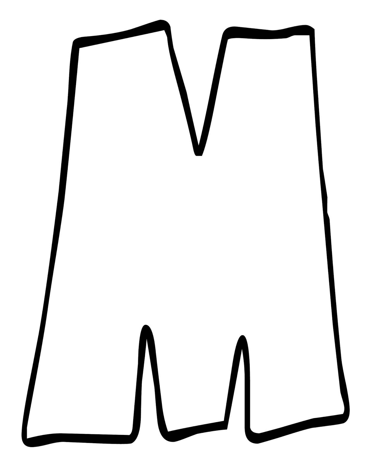 Letra M Para Colorear. Letra M - 68.1KB