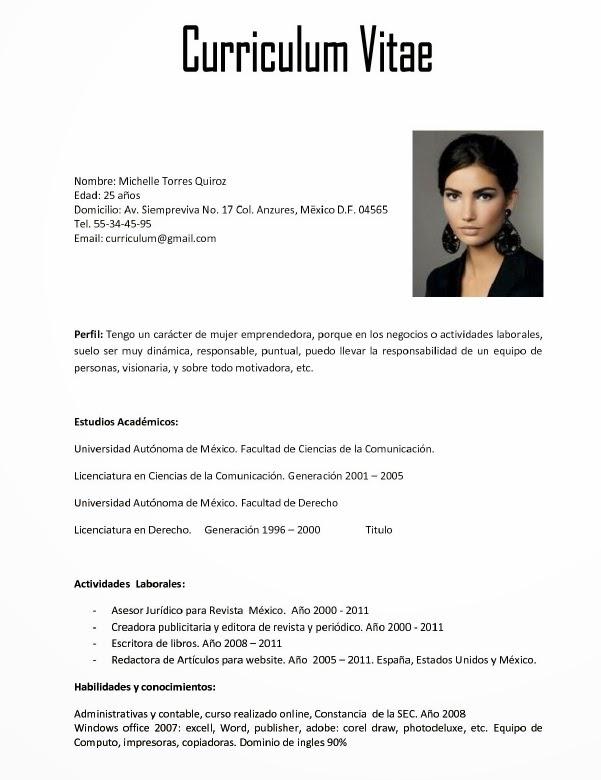 Modelo Curriculum Vitae Xunta De Galicia 8keverest Com