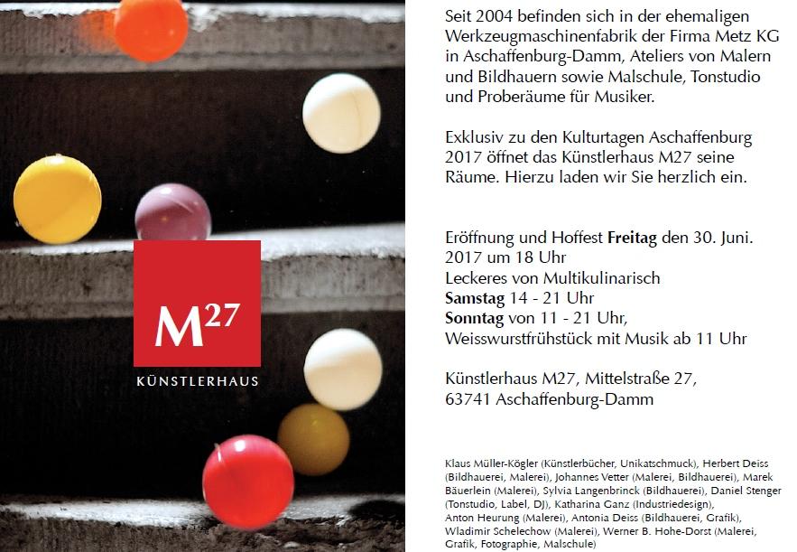 Künstler Aschaffenburg aschaffenburger künstler 551 offenes künstlerhaus m27