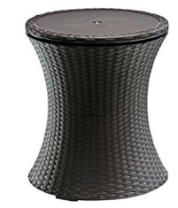 Keter Rattan Outdoor Patio Deck Pool Cool Bar Ice Cooler Table Furniture, Wicker Patio Ice Chest Coolers, Wicker Coolers, Wicker Ice Chest Coolers, Outdoor Furniture, Outdoor Patio Furniture, Outdoor Patio Accessories, Outdoor Wicker Furniture