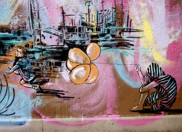 Рисунки на стенах. Alice Pasquini 22