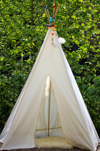 diy low budget tipi