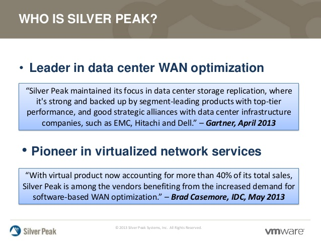 Fig 1.1 Silver Peak Wan Optimization