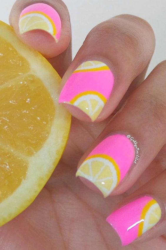 Pattern Summer Nail Art Designs
