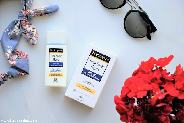 Neutrogena ultra sheer fluid spf 50 sunscreen review