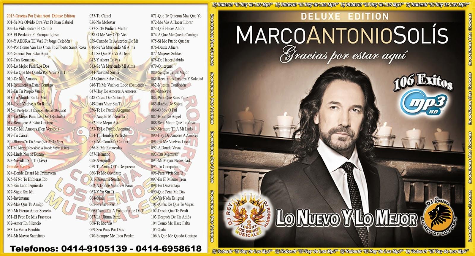 Marco Antonio Solis (Reparado) - DjRoberth El Rey De Los Mp3