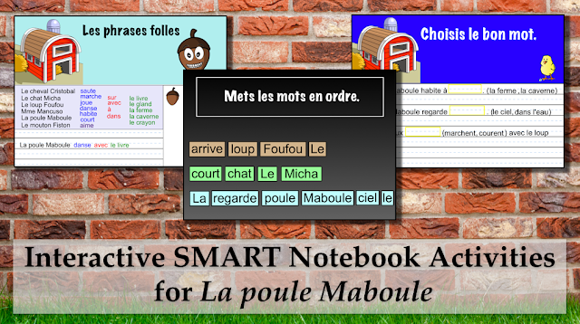 Interactive SMART Notebook Activities for La poule Maboule