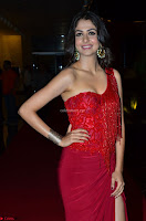 Actress Malvika Raaj in Red Leg Split Gorgeous Gown at Jayadev Audio Function 2017 ~  Exclusive 043.JPG