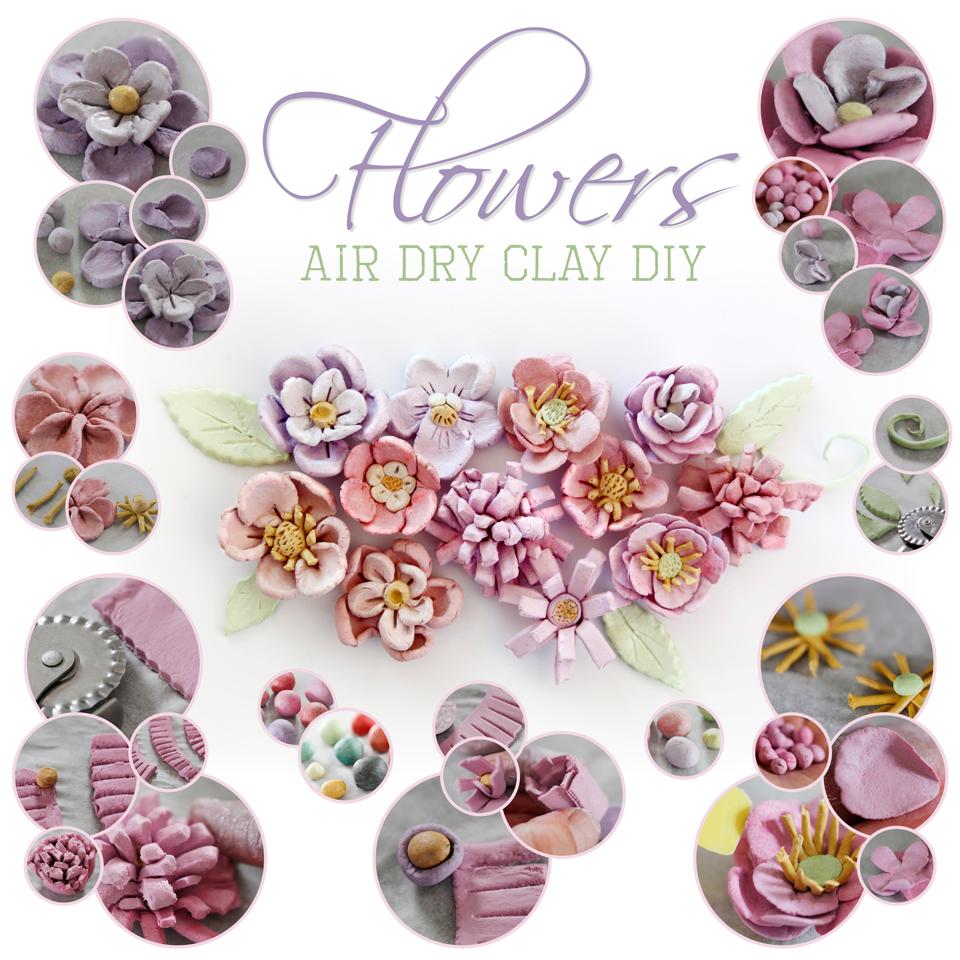 Clay Flowers Tutorials: Creativity Unmasked: DIY Air Dry Clay Flowers (Plus Tips