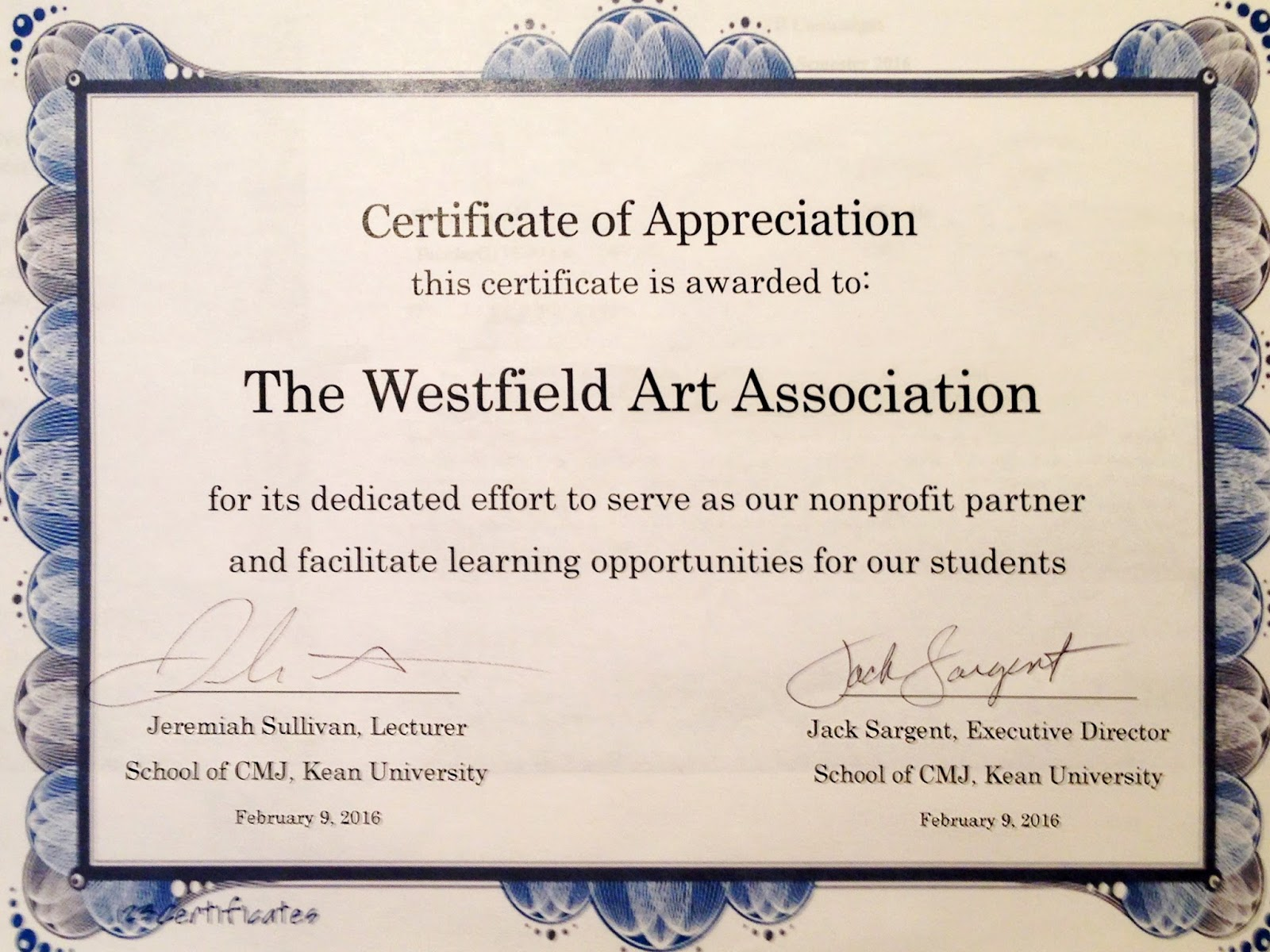 Kean University Academic Calendar.A New Partnership With Kean University Westfield Art Association