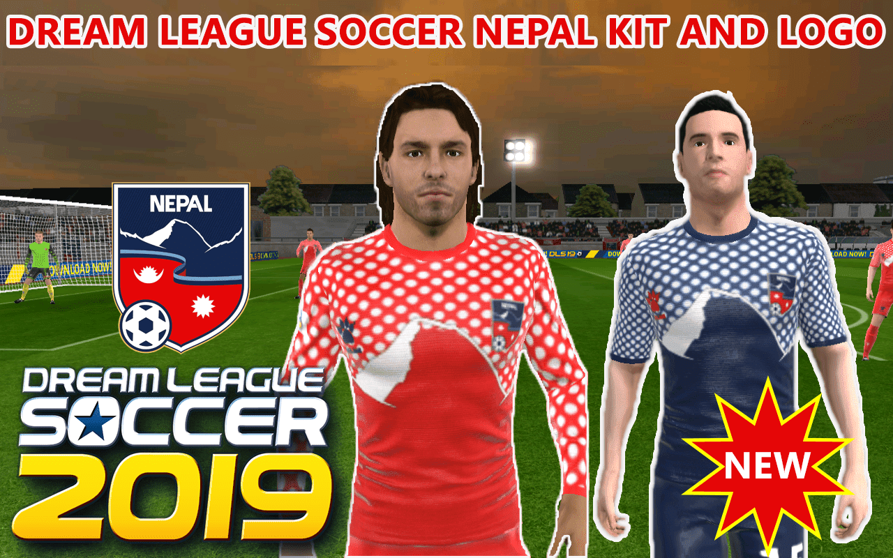 Nepal Dream League Soccer kit and logo (New Jersey) 2019