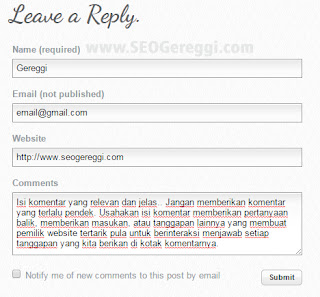 Backlink Komentar Weebly