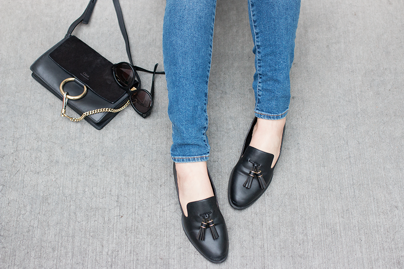 Denim + loafers for Fall