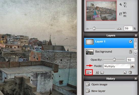Membuat Efek Foto Vintage Online