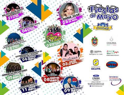 artistas fiestas de mayo manzanillo 2018