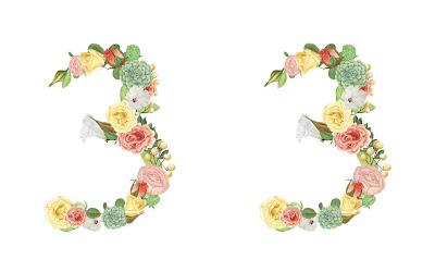 A floral number 33