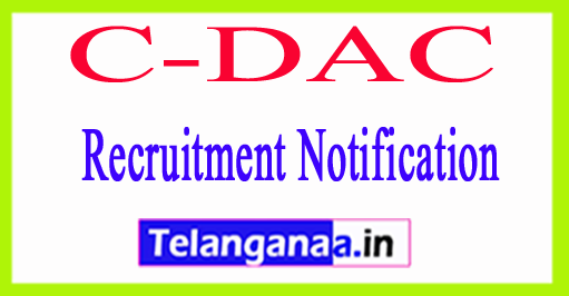 C-DAC Recruitment Notification 2017
