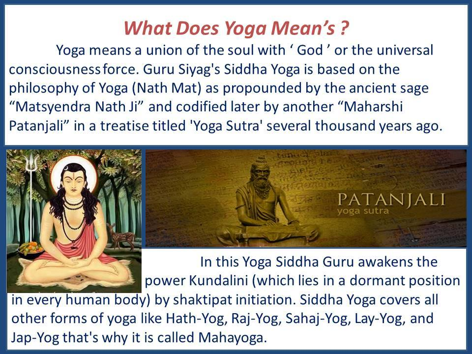 Detail Explanation of Guru Siyag Mantra-Sidha Yoga Philosophy