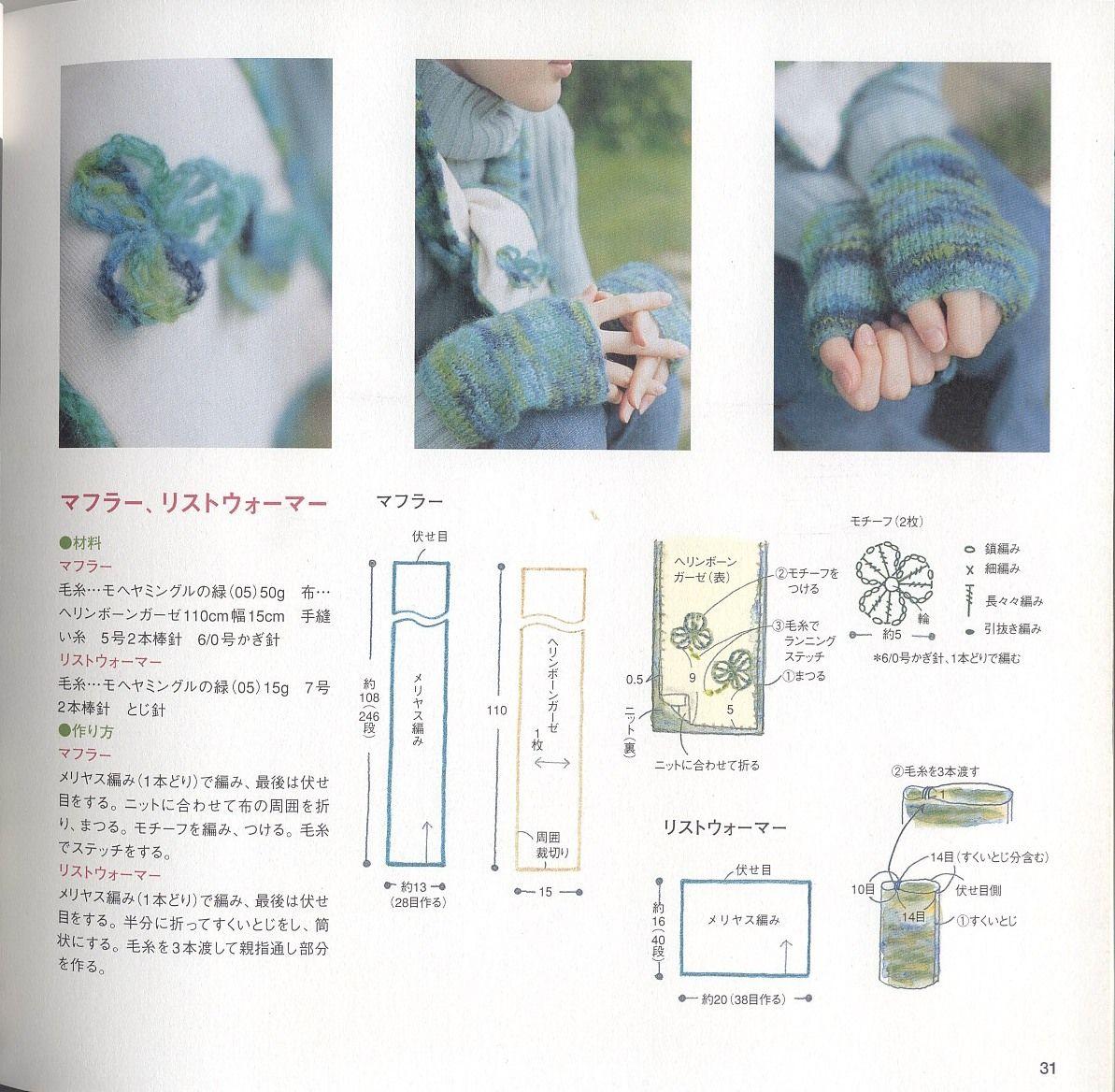 Guantes sin Dedos con un Rectangulo Crochet