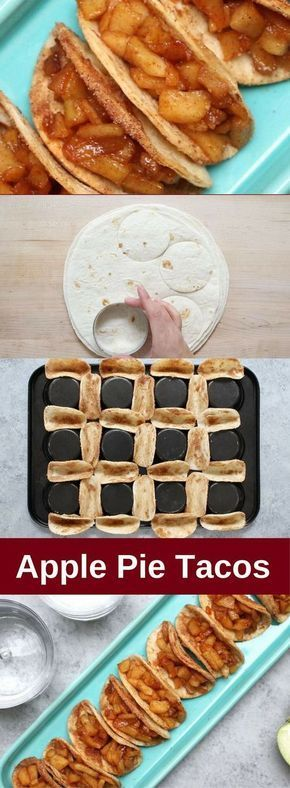 15 Minute Baked Apple Pie Tacos