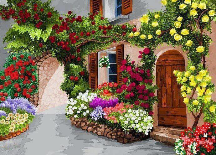 Global space au del de l 39 espace maison fleurie for Deco jardin fleuri